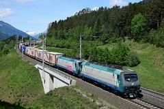 E412 004 + E412 008, TEC 41871. Pusarnitz (M. Kolenig) Tags: fs e412 tauernbahn wald berg baum