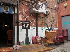 Bar Fringe, Manchester (deltrems) Tags: barfringe fringe manchester pub bar inn tavern hotel hostelry house restaurant beer garden chairs spare