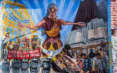 house keys not handcuffs (pbo31) Tags: sanfrancisco city nikon d810 color april 2019 boury pbo31 spring missiondistrict art mural alley protest activism panorama stitched large panoramic