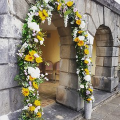 This stunning spring archway for a recent wedding using gorgeous sunflowers, lisianthus and roses. . . #parsleyandsageflorist #stokeontrentflorist #sunflowers #lisianthus #rose🌹 #roses #weddingseason #wedding2019 #weddingbells #weddings #weddingdecor (parsleyandsage11) Tags: flowerstagram floraldesign weddingseason wedding2019 weddingbells flowerdaily weddings weddingdecor florals flowerdesign flowergram sunflowers weddingstyle flowerbeauties parsleyandsageflorist rose weddingarch roses stokeontrentflorist lisianthus