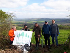 MON LF Apr 2019 Newchurch (Keep Wales Tidy) Tags: long forest hedge hedgerow planting gapping up old