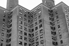 Baruch Houses (Zach K) Tags: zigzag angles geometry lines design architecture diagnoal baruch houses nycha nyc lower east side les rightangles fujfiilm fuji xpro2 xf35mm2 xf35mm acros masonry