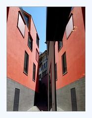 seeing double (overthemoon) Tags: switzerland suisse schweiz svizzera romandie vaud lausanne rôtillon urbanrenewal colourful phone frame