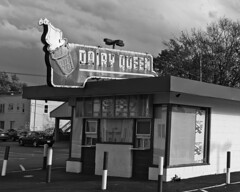 The Queen (Pete Zarria) Tags: purple ohio dairy queen ice cream sundae shakes neon sign decay old road side