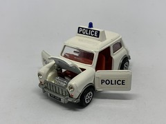 Dinky Toys / Meccano - Number 250 - Mini Cooper Police Car - Miniature Diecast Metal Scale Model Emergency Services Vehicle (firehouse.ie) Tags: dinky250 cops cop cars austincoopers austincooper bmc vintage toys toy miniatures miniature models model metal car police minicooper mini meccano dinkymeccano dinkytoys dinky