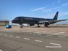 TAG Aviation UK Boeing 757 (G-TCSX) at Schiphol East (PictureJohn64) Tags: nederland netherlands spotter aerodrome airport airplane luchtvaart black vliegveld vliegtuig flughafen flugzeug amsterdam eham plane aircraft iphone picturejohn64 gtcsx 757 boeing uk aviation tag