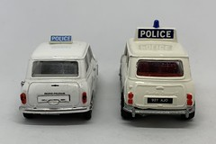 Dinky Toys Mini Cooper Police Car And Vitesse Morris Mini Police Car  - Miniature Diecast Metal Scale Model Emergency Services Vehicles (firehouse.ie) Tags: miniminor mini dinkytoys diecast car police vitesse dinky