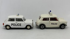 Dinky Toys Mini Cooper Police Car And Vitesse Morris Mini Police Car  - Miniature Diecast Metal Scale Model Emergency Services Vehicles (firehouse.ie) Tags: bmc dinkytoys diecast car police mini vitesse dinky