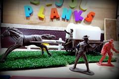 Polecat Attack - Bijou Planks 114/365 (MayorPaprika) Tags: panasoniclumixdmcfz1000 mini figs figure paprihaven pvc miniature smallscale figurine diorama toy story scene custom bricks plastic vinyl theater bijouplanks western cowboy wagon horse rustler legendsofthewildwest westernplayset imperial