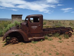 Old Truck at Mount Trumbull (Annes Travels) Tags: mounttrumbullschoolhouse arizona historical historic history arizonastrip schoolhouse truck antiquecar sky clouds
