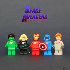 Space Avengers Endgame (Kloou.) Tags: lego kloou space avengers endgame spaceclassic spaceman superheros superheroes movie hulk thor ironman blackwidow capitaineamerica benny