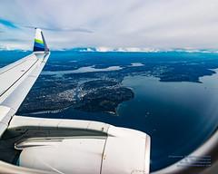 Seattle, Elliott Bay and Lake Washington From 8,700 ft ASL With Some ERJ-175 Wingtip (AvgeekJoe) Tags: aerialphotograph d5300 dslr e75l erj170200lr erj175 erj175lr embraer embraererj170200lr embraererj175 embraererj175lr n624qx nikon nikon1020mm nikon1020mmafpdxf4556gvr nikond5300 nikonnikkor1020mmafpdxf4556gvr aerial aerialphoto aerialphotography aircraft airplane aviation jetliner plane
