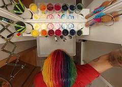 16156 (*janina*) Tags: ja janina days life me swlf self family rodina people 365 365like daily serie denik 2019 zivot april hairstyle hairdye coloured hair punk rainbow colours