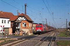Stumsdorf (Nils Wieske) Tags: sachsenanhalt baureihe 156 meg güterzug stellwerk bahnhof bahn eisenbahn train railway railroad zug züge
