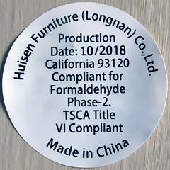 Compliant (Timothy Valentine) Tags: sticker 0419 madeinchina 2019 home squaredcircle eastbridgewater massachusetts unitedstatesofamerica