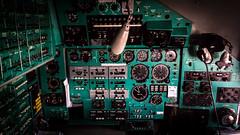 Ilyushin Il-62MGr EW-450TR Rada Airlines (William Musculus) Tags: ew450tr rada airlines ilyushin il62mgr paris vatry châlons châlonsvatry lfok xcr airport spotting aviation airplane plane william musculus il62 il62m cargo cockpit flight deck navigator panel panels