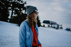 On the top. (lukas.miller.photography) Tags: nikon photography photo lifestyle girl portrait winter mountains d7100 35mm 18 cold outdoor outside klínovec grain film look mood adella