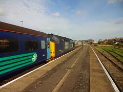 Lowestoft Arrival (ee20213) Tags: directrailservices eastanglia lowestoft norfolk class37 carlhaviland greateranglia abellio 37419 tso 5787 mk2a 37291 d6991 drs wherrylines