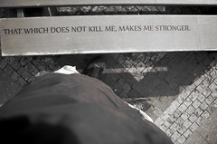 Strenght (Atreides59) Tags: prague praha républiquetchèque czechrepublic pied foot pieds feet urban urbain street black white bw blackandwhite noir blanc nb noiretblanc pentax k30 k 30 pentaxart atreides atreides59 cedriclafrance