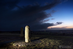 Lia Fáil at twilight (mythicalireland) Tags: twilight dusk cloud storm sky night light evening landscape archaeology stone hill tara meath ireland mythology destiny