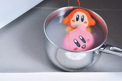 Kirby Soup 😂🍲 (laddarat123) Tags: cook cooking housework cleaning hobbies hobby vintage retro plushie childhood child memory nostalgia nostalgic dolls doll kirbyplush plush figure waddledee toys toyphotography toy intendo food soup kirb kirby
