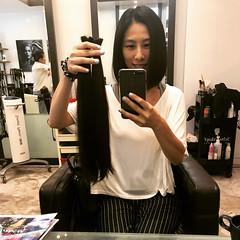 fafa AFTER (morikarak) Tags: long short longhair shorthair rapunzel chop chopitoff thickhair ponytail braid shave blonde brunette