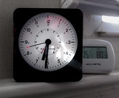 Claws of Time (BrilliantBill) Tags: clock time clockface seconds fujifilm fuji fujixt2 alarmclock timeand temp timeandtemperature