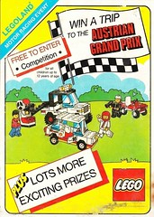1986 Lego flyer front (GoodPlay2) Tags: vintage grand prix lego advert ad advertisement advertising f1 racing cars formula 1 classic rare old promo promotion promotional materiel legoland retro systen 187 cool set car granprix compertition entrry form