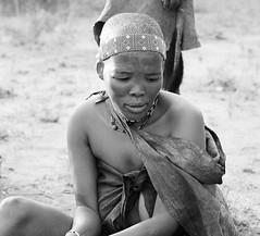 Portrait of Bushmen (tribe Junxwazy) - Kalahari desert – Botswana (lotusblancphotography) Tags: africa afrique kalahari desert désert people gens travel voyage bushmen monochrome bw