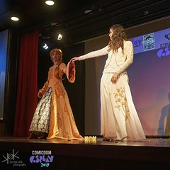 ComicdomCon Athens 2019 Cosplay Contest: Lady of Barians and Karachiel as Queens of England and Scots (Reign) (SpirosK photography) Tags: comicdomcon comicdomcon2019 comicdomconathens2019 cosplay contest comicdom athens greece hau cosplaycontest reign tv tvdrama queen queenofscots queenelisabeth queenmary group groupcosplay