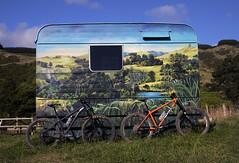 Caravan for me Ma! (Wozza_NZ) Tags: cotic soul norco fluid hardtail hardtails bikes bike mountainbike mountainbikes nz newzealand kapiti whareroa mural painting scenery painted