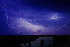 Lightning, Yellowstone River, Yellowstone National Park, Wy. (klauslang99) Tags: klauslang nature northamerica naturalworld night lightning electrical storm yellowstone national park wyoming landscape