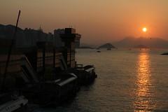 Sun sets on the Hong Kong China Ferry Terminal (Marcus Wong from Geelong) Tags: hongkong ferry maritime port harbour victoriaharbour water ocean sea boat ship vessel oceanterminal hongkong2019 hongkongchinaferryterminal