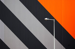 Hornbach Lamp (HWHawerkamp) Tags: nl amsterdam facade building market architecture graphics abstract colours