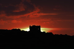 Fiery Sky over Carn Brea Castle (Cornish Reflections) Tags: castle sunset cornwall carnbrea uk england cornish