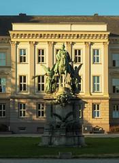 Kaiser-Wilhelm I Monument (joeng) Tags: germany landscape building places dusseldorf sculpture monument plants altstadt people horse animal statue kaiserwilhelm martinlutherplatz