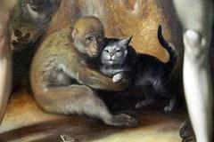 paradise revisited (andrevanb) Tags: amsterdam rijkmuseum art 16thcentury painting zondeval fallofman cornelisvanhaarlem 1592 detail paradise monkey cat