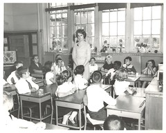 20. Unidentified alumna teacher with her students in her classroom (1963) (St. Joseph's College McEntegart Archives) Tags: 20