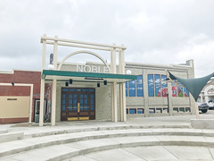 IMG_2414 (Sam W. Hummelstein) Tags: 2019 25 april bailey centennial contractors instruments jerry jonesboro musical plaques plaza rotary brackett mural