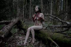 (Liliana Berkvt) Tags: gothic tattoogirl darkaesthetic alternativmodel akt nude people dreadlocks witch darkwoods forest outdoor portrait blood