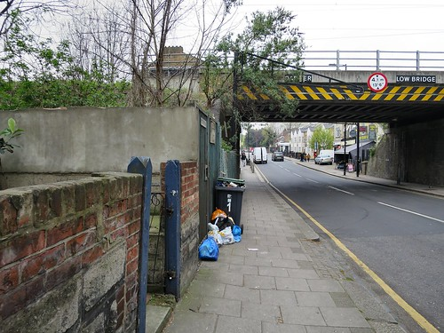 Lordship Lane N17  - nearing the railway bridge on 16 April 2019