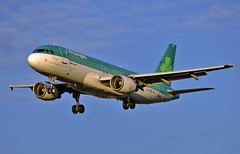 """Aer Lingus A320 """"Golden Hour"""" (Infinity & Beyond Photography: Kev Cook) Tags: aer lingus irish airlines airbus a320 aircraft airplane airliner london heathrow airport lhr myrtle avenue ave photos planes goldenhour"""