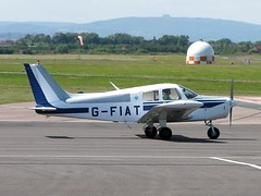 G-FIAT   Piper PA-28-140 Cherokee [28-7425162] Staverton~G 04/08/2005 (raybarber2) Tags: 287425162 cn287425162 egbj filed flickr gfiat johnboardleycollection planebase single ukcivil
