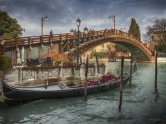 Puente de la Academia. (Venecia) (Capuchinox) Tags: venecia venice italia italy puente bridge hdr agua water gondola cielo sky nubes clouds nik