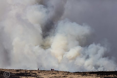 Marsden Moor fire Easter 2019 (16) (Mark Schofield @ JB Schofield) Tags: reservoir water peat moorland bog moss agriculture yorkshire huddersfield wessenden head pule buckstones scammonden royd edge valley holme colne marsden meltham digley march haigh west nab deer emley mast thenationaltrust helicopter heliliftservices fire burn douse bomb n35eh