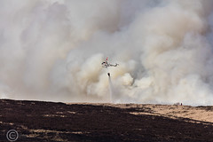Marsden Moor fire Easter 2019 (13) (Mark Schofield @ JB Schofield) Tags: reservoir water peat moorland bog moss agriculture yorkshire huddersfield wessenden head pule buckstones scammonden royd edge valley holme colne marsden meltham digley march haigh west nab deer emley mast thenationaltrust helicopter heliliftservices fire burn douse bomb n35eh