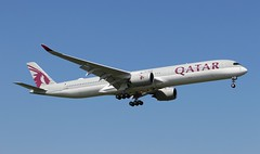 A7-AND Airbus A350-1041 Qatar Airways (R.K.C. Photography) Tags: a7and airbus a3501041 a350 qatarairways qr qtr aircraft aviation airliner london england unitedkingdom uk londonheathrowairport 09l lhr egll canoneos100d