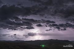 The Hills of Wyarno (kevin-palmer) Tags: wyarno sheridan wyoming spring april lightning thunder thunderstorm storm stormy clouds electric night sky dark strike bolt hills evening nikond750 tamron2470mmf28 purple green light