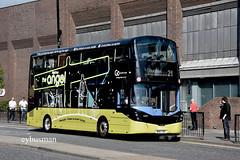 Go North East 6333, NK67GOC. (EYBusman) Tags: go ahead north east northern general bus coach tyne wear newcastle city centre angel wright streetdeck 6333 nk67goc eybusman