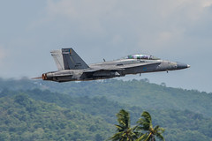 LIMA19 - 131 (coopertje) Tags: malaysia pulau langkawi lima airshow aircraft jet fighter boeing mcdonnelldouglas fa18 hornet rmaf tudm royal malaysian air force flying flight
